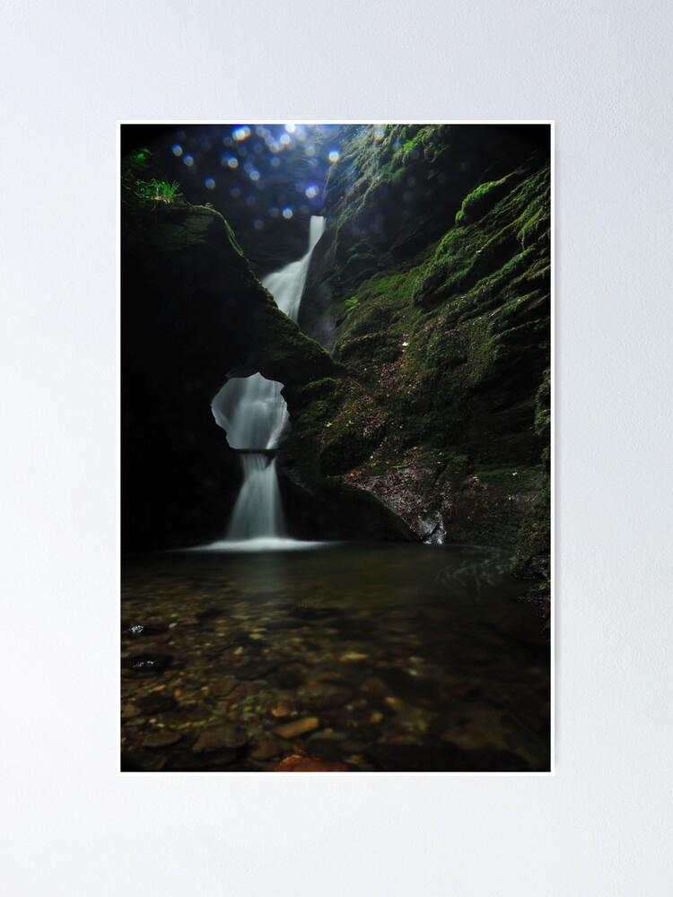 Alternate view of Nectans Glen Waterfall Poster