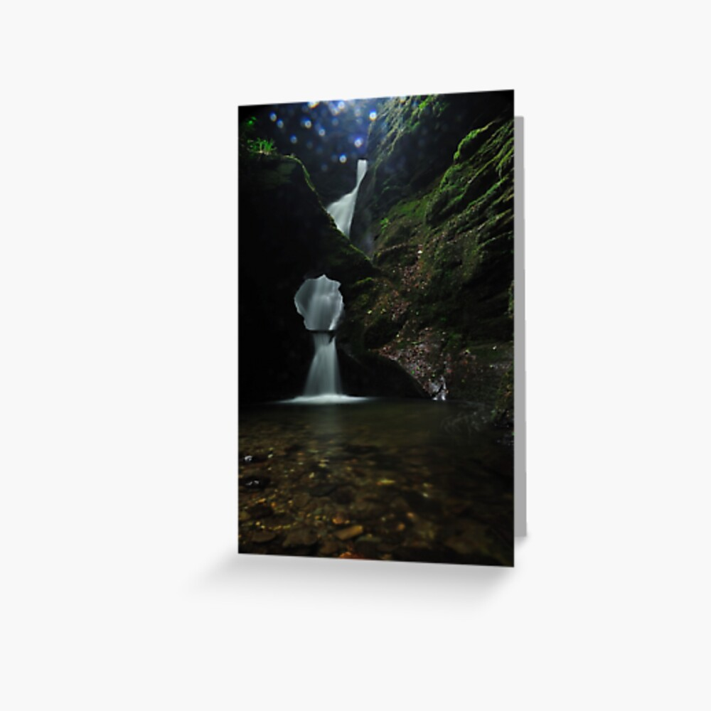 Nectans Glen Waterfall Greeting Card