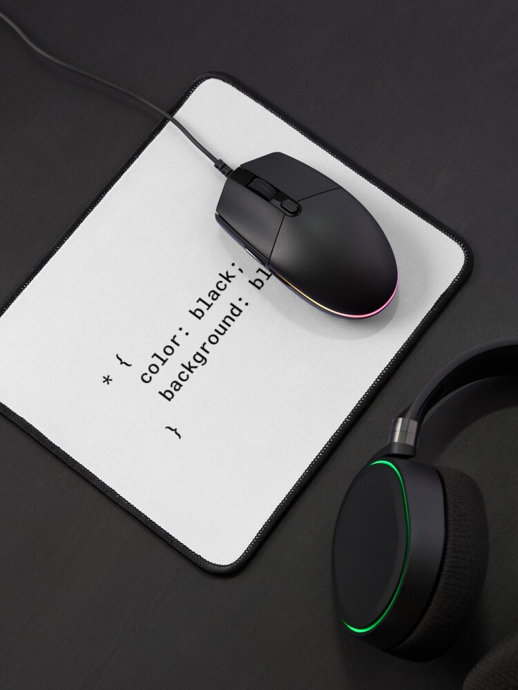 Alternate view of CSS - Everything Black (Inverted) Mouse Pad