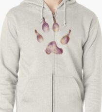 Whimsical Wolf Paw Zipped Hoodie