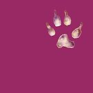 Whimsical Wolf Paw by Hajra Meeks