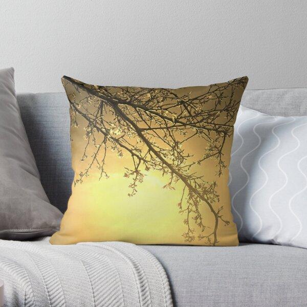 gaia gold Throw Pillow