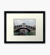 Travelling through Venice - on a Gondola Framed Print