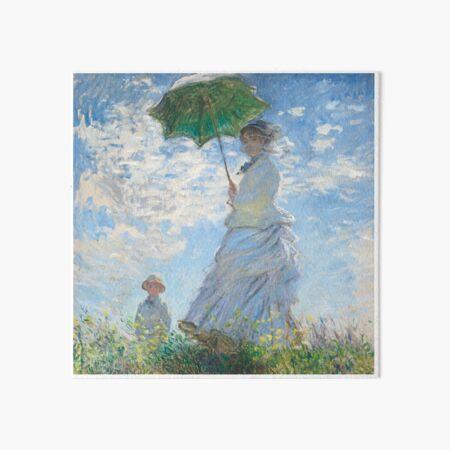 Woman with a Parasol Art Board Print