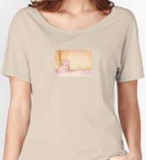 Cute Little Sitting Wolf Women's Relaxed Fit T-Shirt