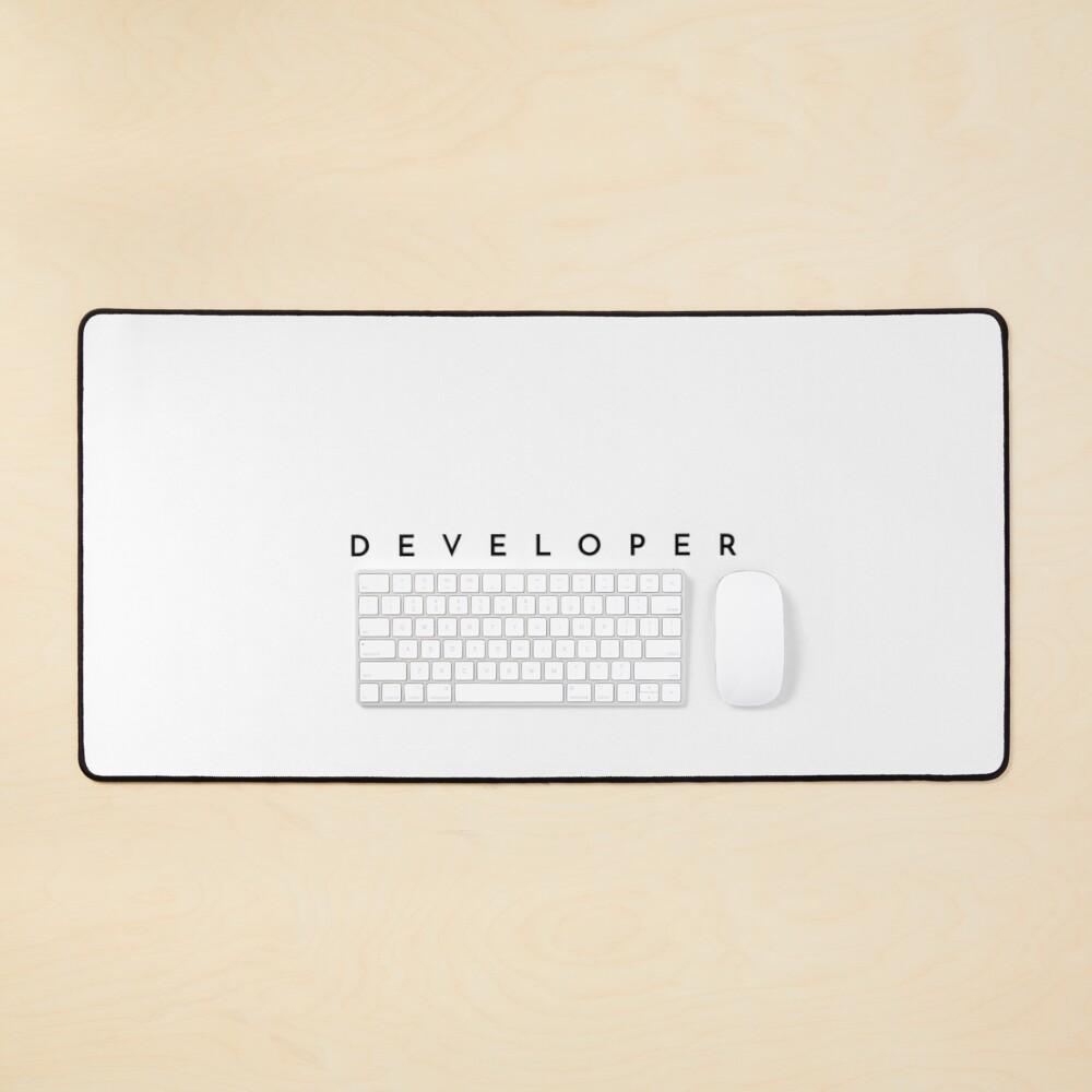 Developer (minimal) (Inverted) Mouse Pad