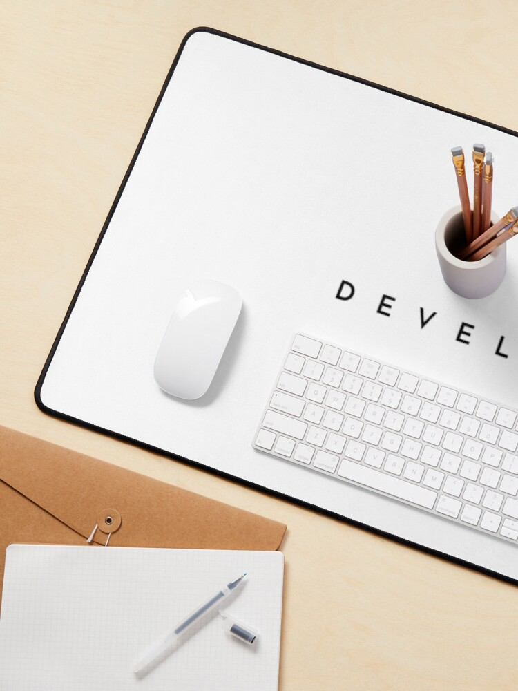 Alternate view of Developer (minimal) (Inverted) Mouse Pad