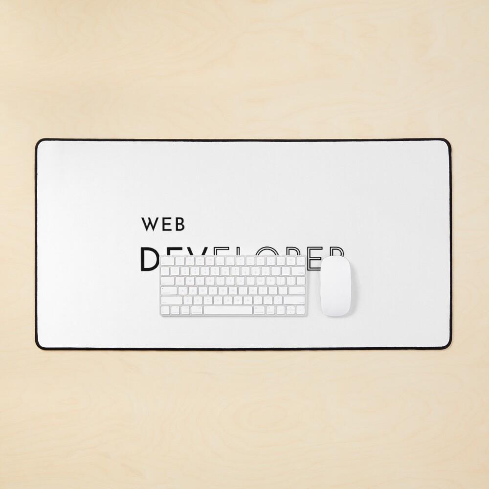 Web Developer (Inverted) Mouse Pad