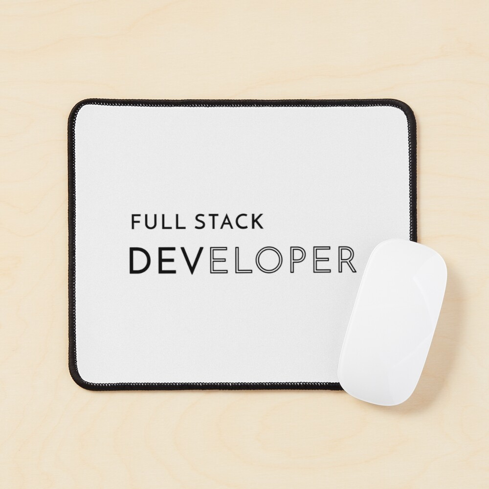 Full Stack Developer (Inverted) Mouse Pad