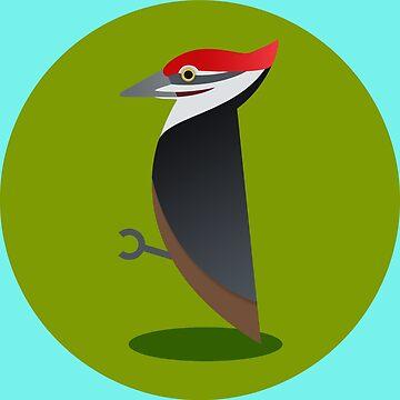 Pileated Woodpecker by mpriorpfeifer