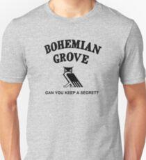 Bohemian Grove Secret (Black print) T-Shirt
