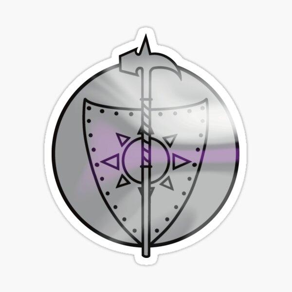 Demisexual Paladin Symbol Sticker
