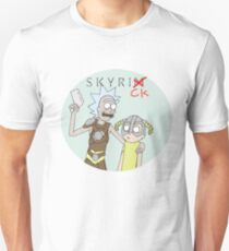 Skyrick- Rick and Morty Skyrim parody T-Shirt