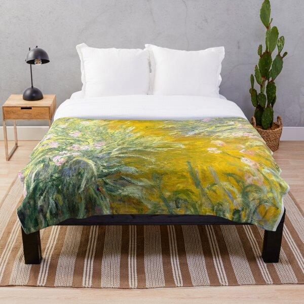 The Path through the Irises Throw Blanket
