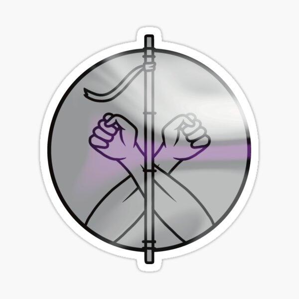 Demisexual Monk Symbol Sticker