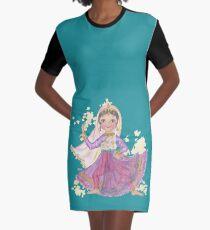 South Asian Dancing Doll Graphic T-Shirt Dress