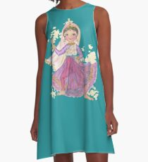 South Asian Dancing Doll A-Line Dress