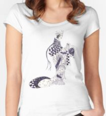 Inky Queen of the Orient Fitted Scoop T-Shirt
