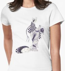 Inky Queen of the Orient Women's Fitted T-Shirt