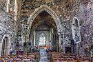 Iona Abbey, Interior, Isle of Iona, Scotland by Beth A.  Richardson