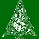 Green Musical Tree by Rose Gerard