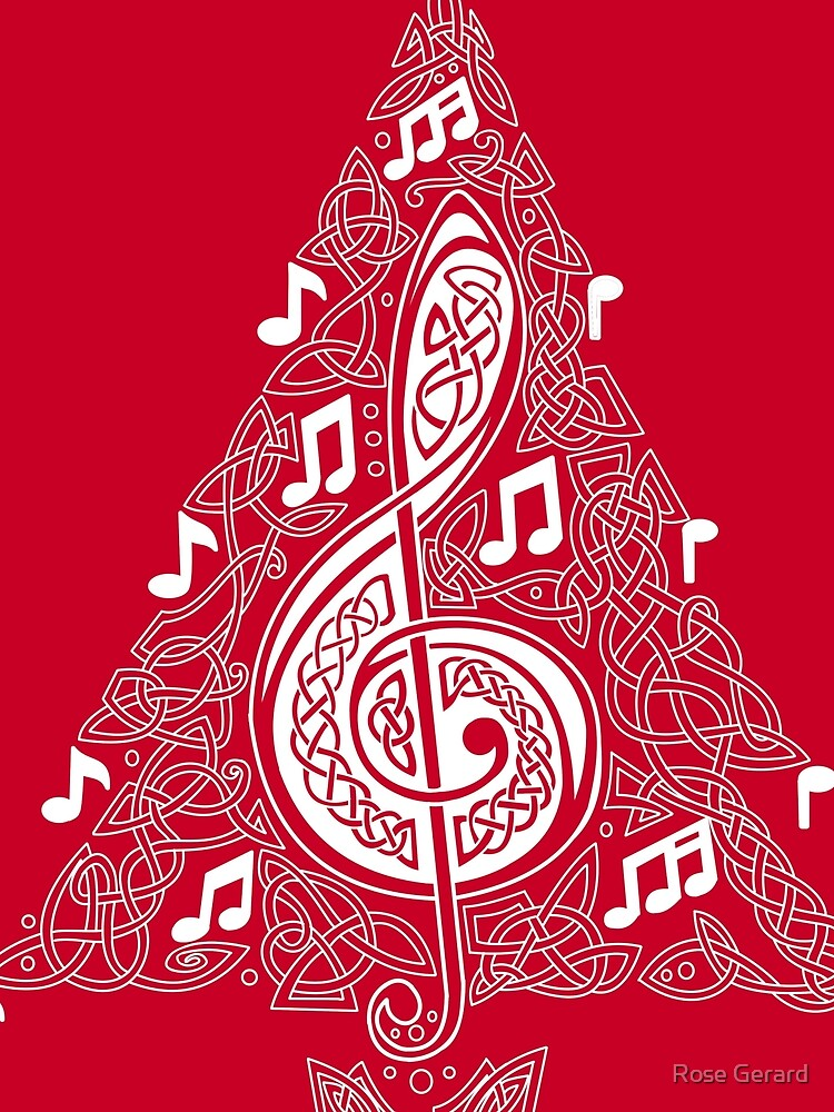 Red Musical Tree by arkadyrose