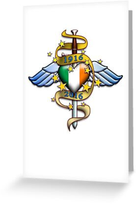 Ireland 1916 tattoo greeting cards by mikeprittie redbubble ireland 1916 tattoo by mikeprittie m4hsunfo