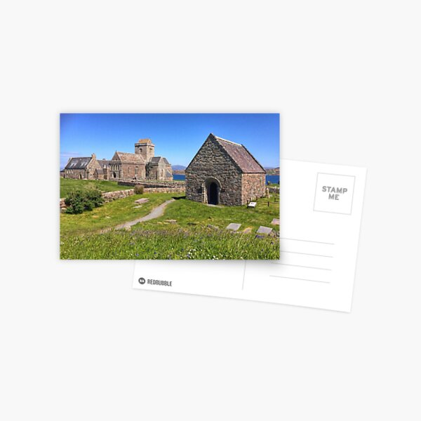 Abbey, Iona, Scotland Postcard