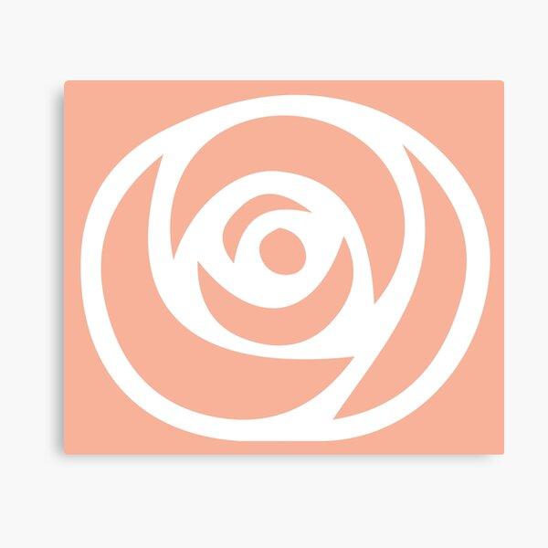 Simple peach rose Canvas Print