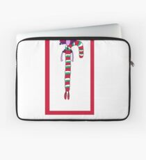 Silly Christmas Candy Cane Laptop Sleeve