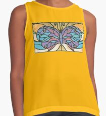 Tiffany Stained Glass Butterfly Sleeveless Top