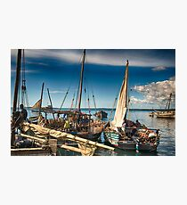 Dhow Boats Africa Photographic Print