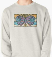 Tiffany Stained Glass Butterfly Pullover Sweatshirt
