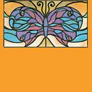Tiffany Stained Glass Butterfly by Hajra Meeks