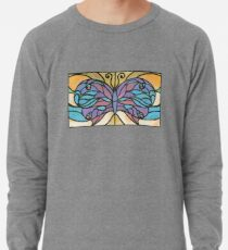 Tiffany Stained Glass Butterfly Lightweight Sweatshirt