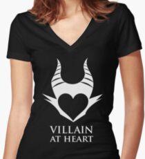 Villain At Heart Women's Fitted V-Neck T-Shirt