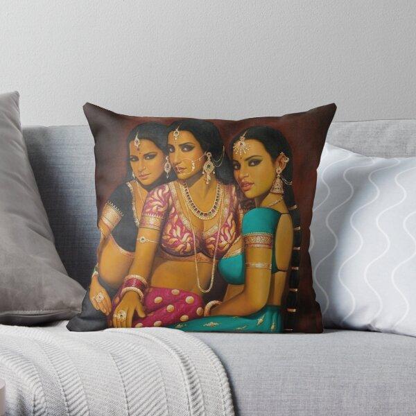 Schöne indische Frauen Artwork BabyBee Dekokissen