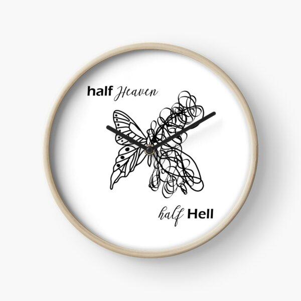 Half Heaven Half Hell Clock