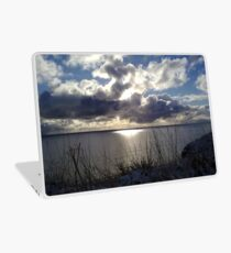 Snowstorm out to sea Laptop Skin
