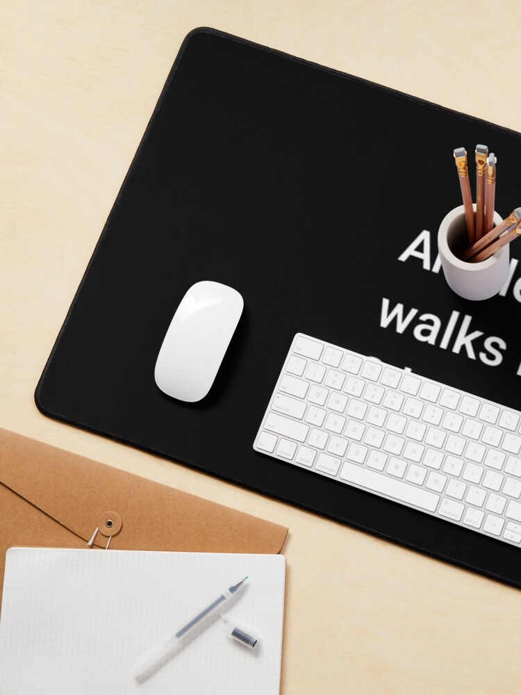 Alternate view of An Electron Walks into 2 Bars Mouse Pad