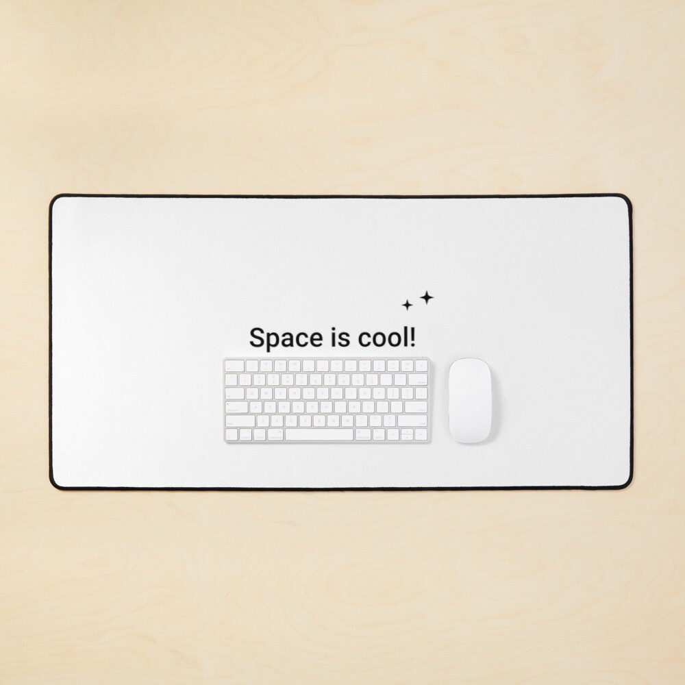 Space is cool! It's 2.73 kelvins (Inverted) Mouse Pad