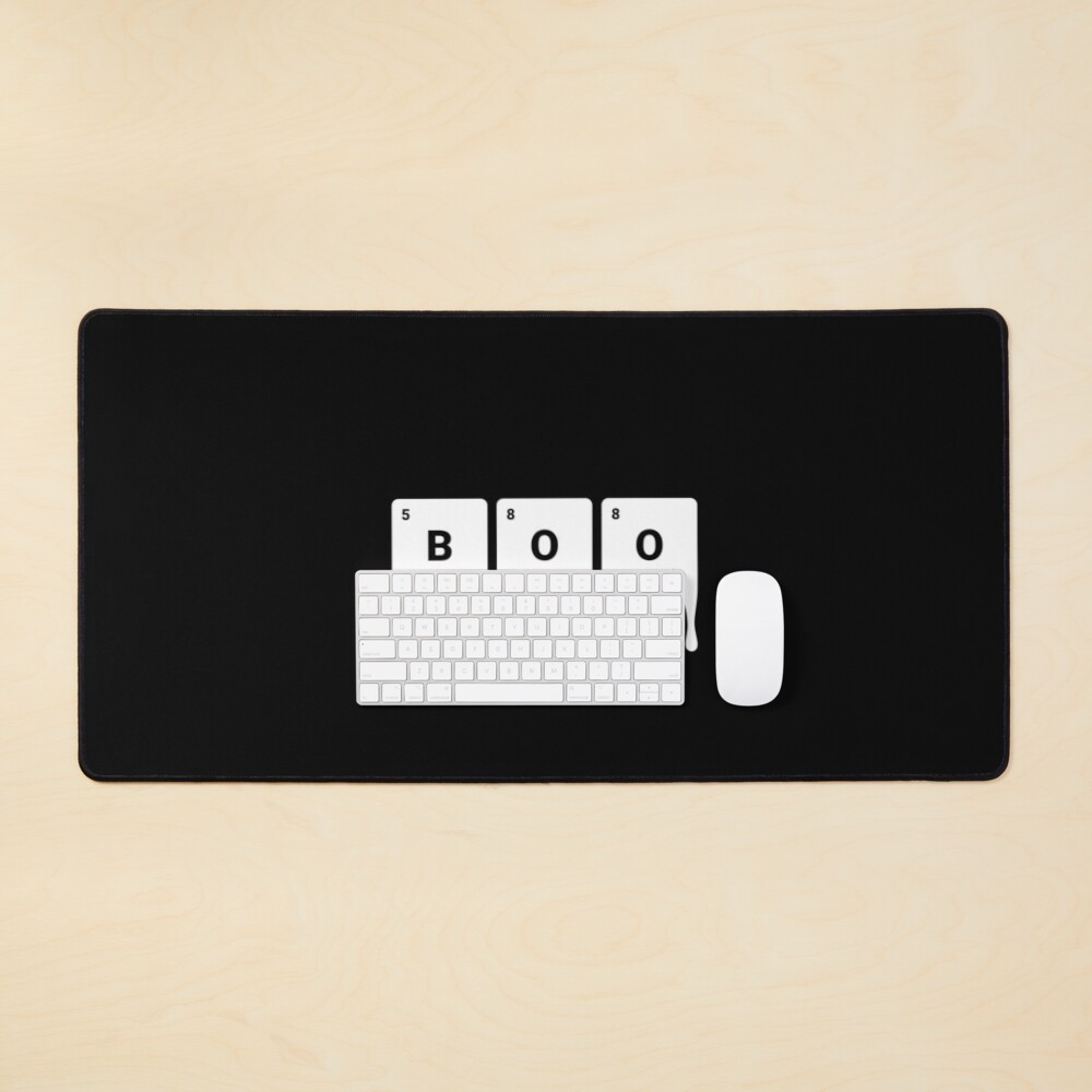 BOO! Scary Halloween Periodic Table Elements Boron Oxygen Mouse Pad