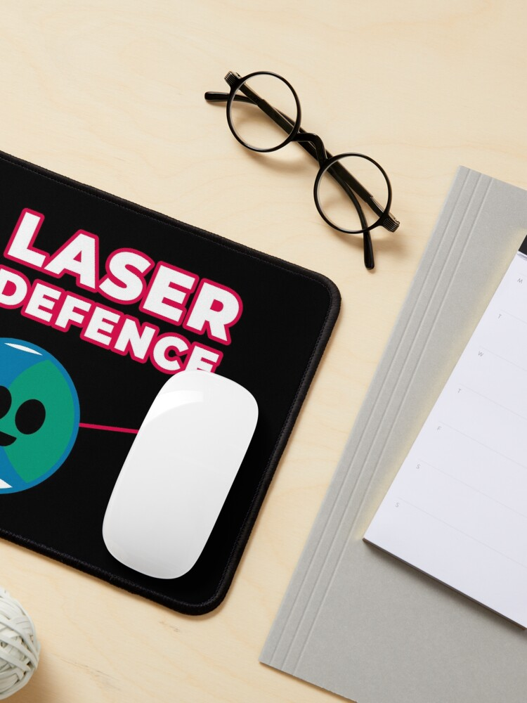 Alternate view of Space Laser Defence Near Earth Asteroids Yarkovsky Effect Mouse Pad