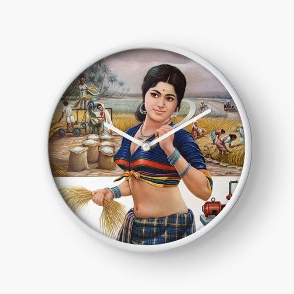 Beautiful Indian Woman Artwork BabyBee Clock