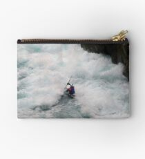 Kayaking down the Waikato River in New Zealand Studio Pouch