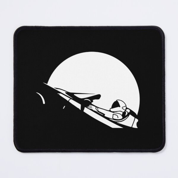 Starman In Space Tesla Roadster (Simplified) Mouse Pad