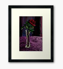 Pretty red without a name (HDR) Framed Print