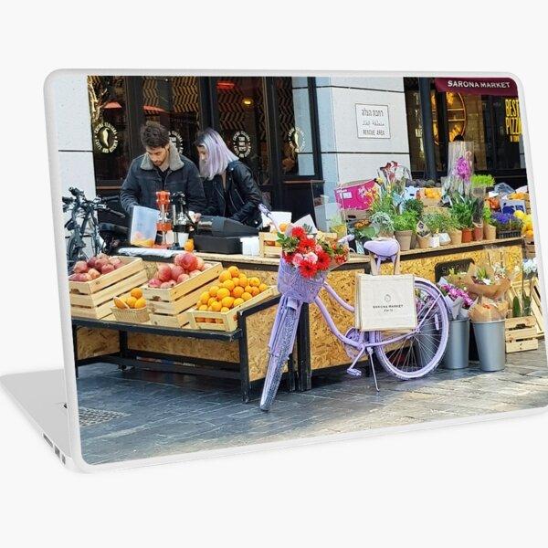 Israel, Tel Aviv. Sarona Juice Stand. Laptop Skin
