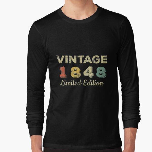 1848 Vintage Made 173rd Birthday Women 173 Years Long Sleeve T-Shirt