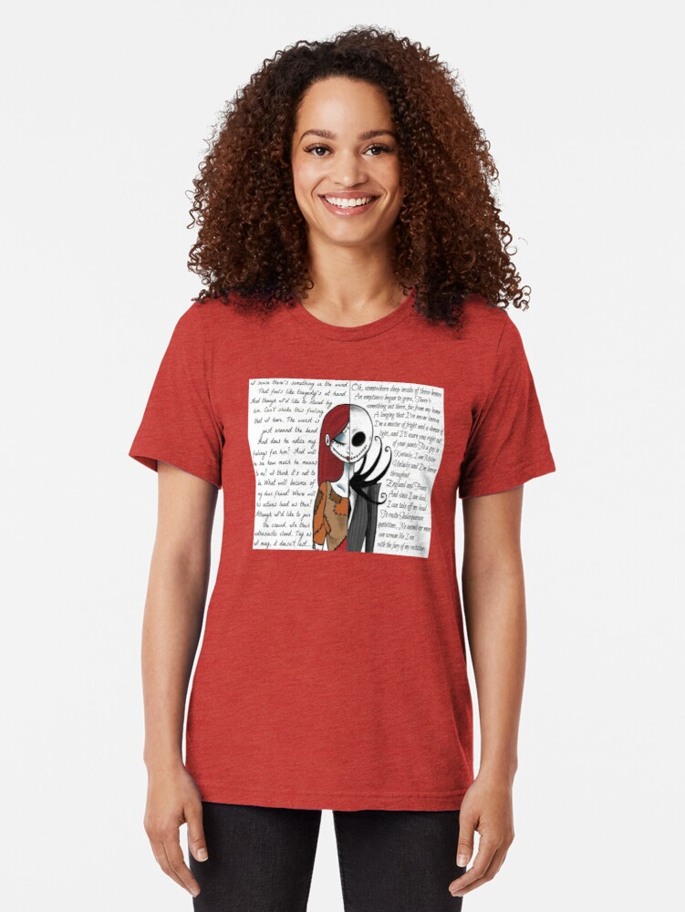 Alternate view of Nightmare Before Christmas Tri-blend T-Shirt